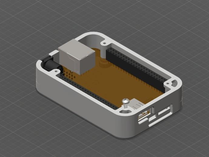 骨黑模块盒 3D打印模型渲染图