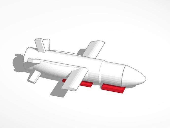 PLEIADES 1 游轮导弹 3D打印模型渲染图