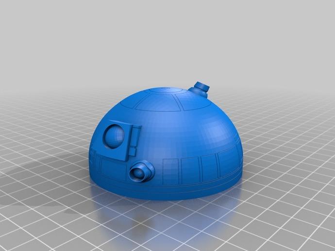 安卓R2D2 3D打印模型渲染图