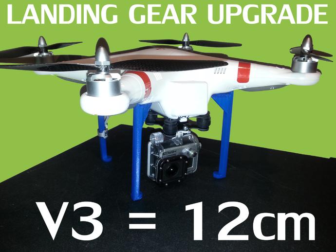 V3 DJI幻影起落架 3D打印模型渲染图