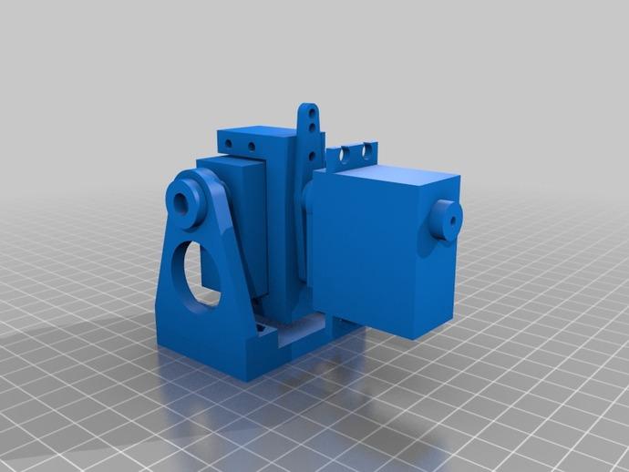 DJI F550 照相机架 3D打印模型渲染图