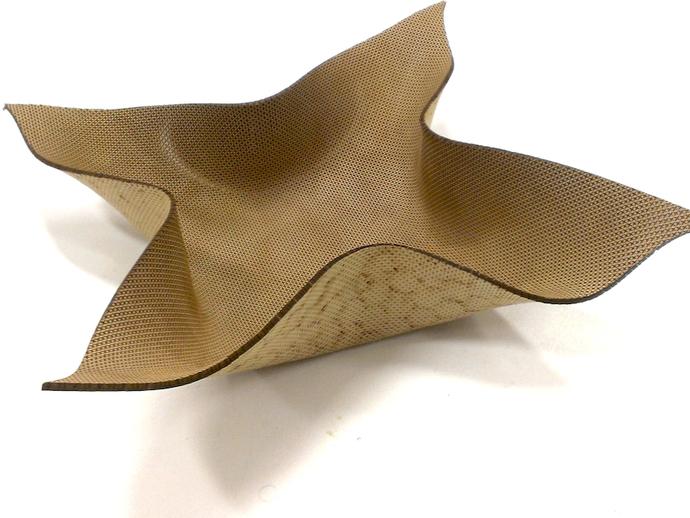 弯曲的mdf碗 3D打印模型渲染图