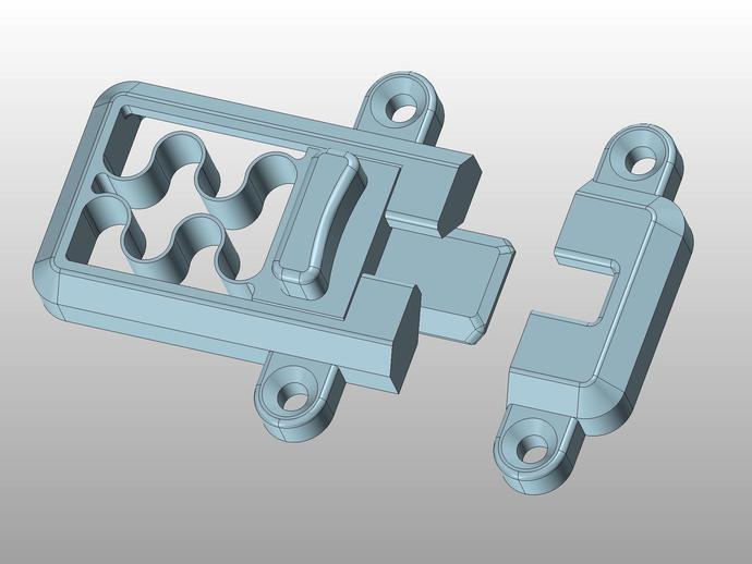 简单的簧上螺栓 3D打印模型渲染图