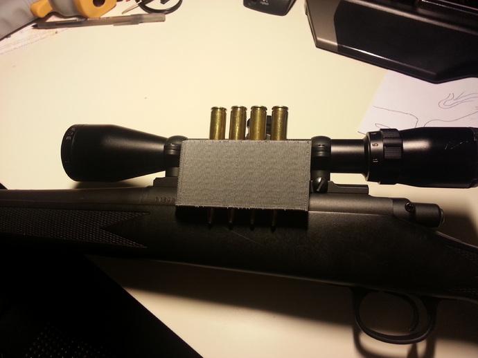 子弹固定壳 3D打印模型渲染图