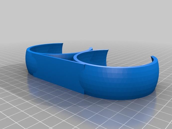 球形置物夹 3D打印模型渲染图
