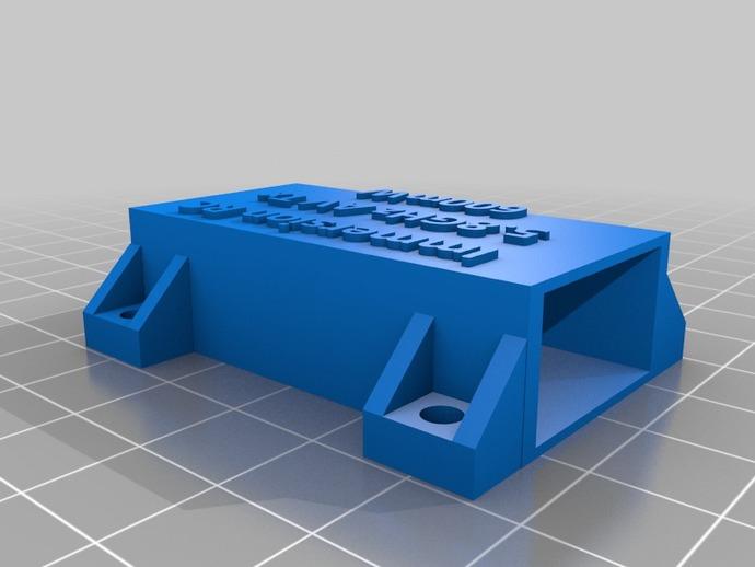 RC 5.8GHz 600mW盒子 3D打印模型渲染图