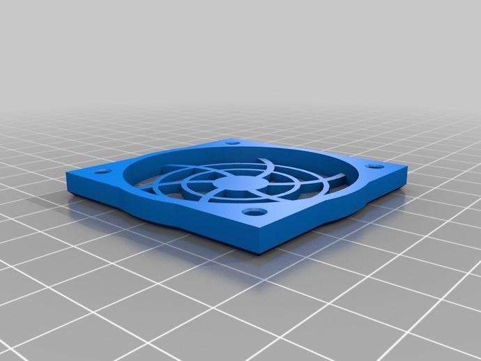 50mm风扇烧烤 3D打印模型渲染图