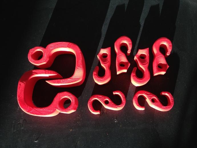 钩子 3D打印模型渲染图
