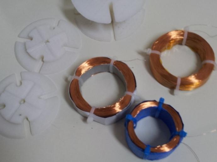 自定义线圈 3D打印模型渲染图