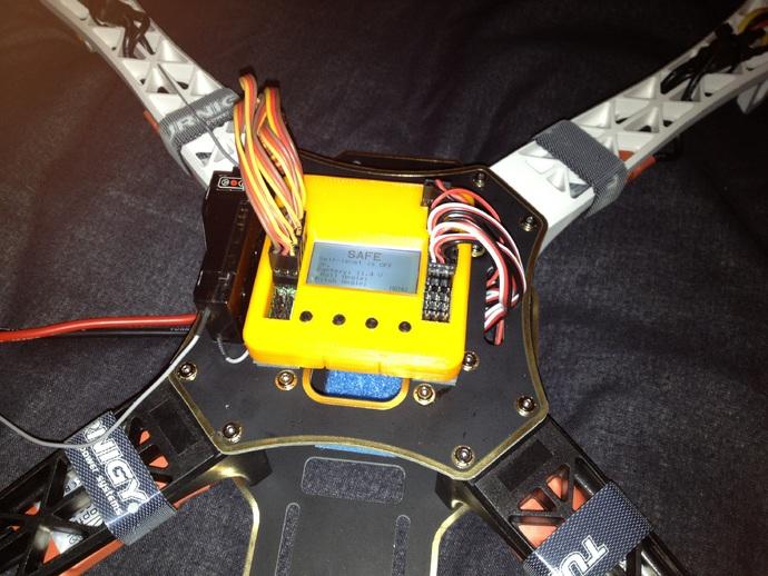 飞行控制壳 3D打印模型渲染图