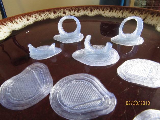 吉他拨片和拇指拨片 3D打印模型渲染图