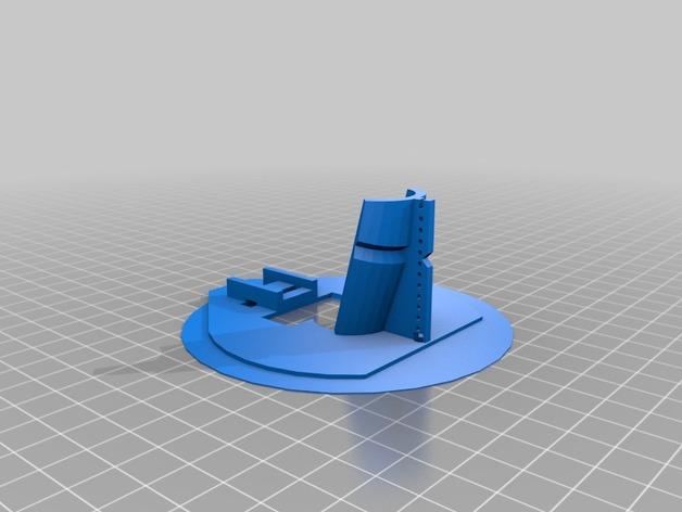 电动绘笔笔座 3D打印模型渲染图