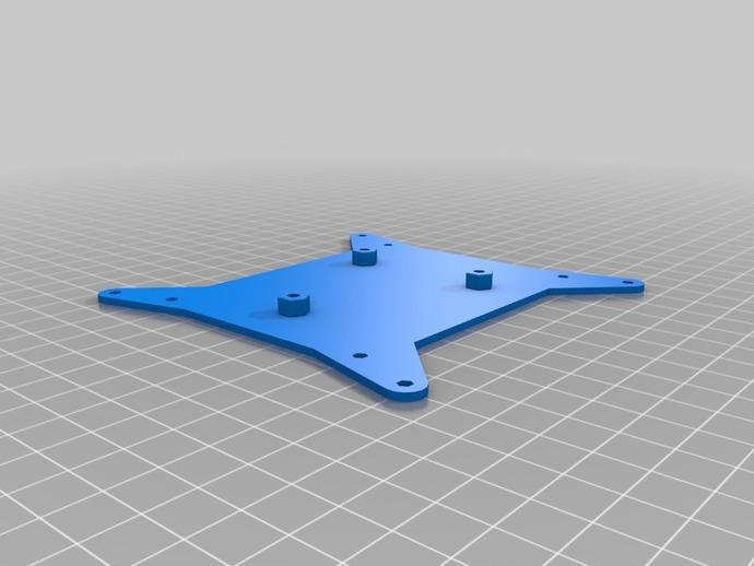 VESA适配器 3D打印模型渲染图