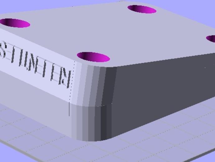 滑板立柱 3D打印模型渲染图