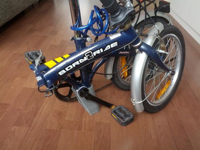 折叠自行车底座