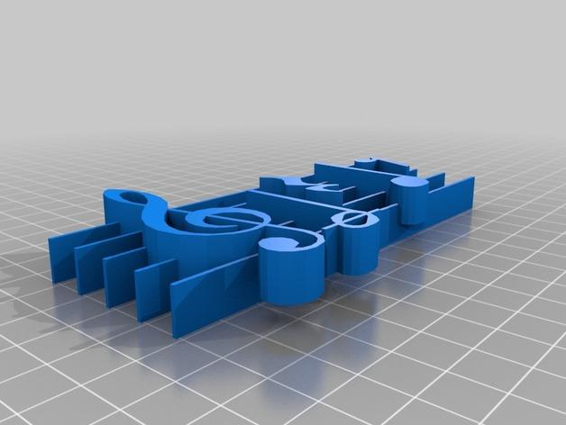音调 3D打印模型渲染图