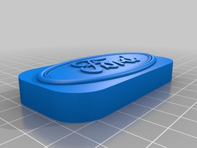 福特汽车标志 3D打印模型渲染图