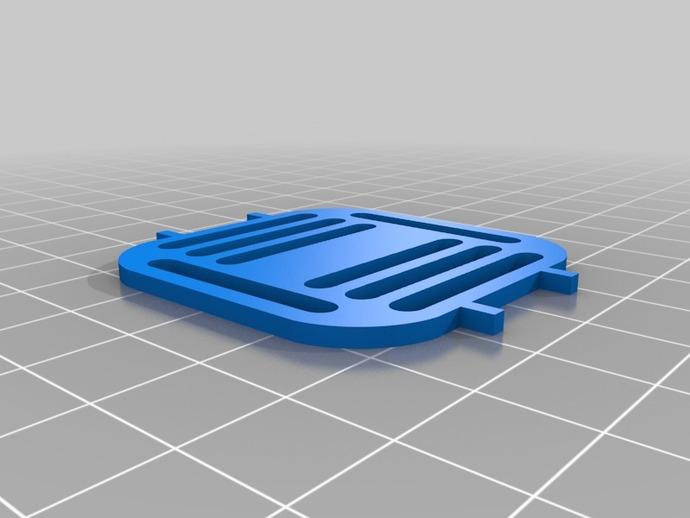 矩形围栏 3D打印模型渲染图
