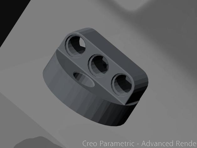 乐高伺服固定槽 3D打印模型渲染图