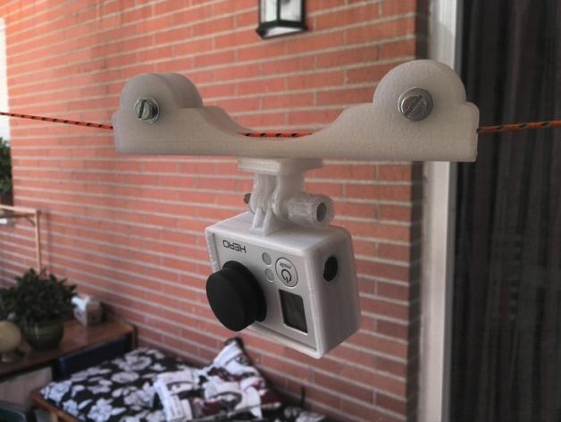 摄影机电缆凹槽 3D打印模型渲染图