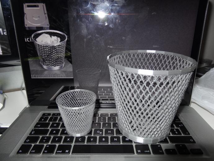 纸篓 3D打印模型渲染图