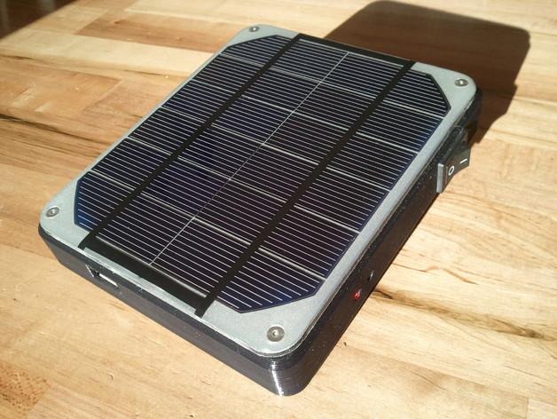 太阳能充电器 手电筒 3D打印模型渲染图