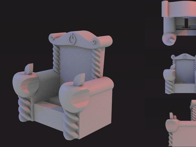 iThrone充电底座 3D打印模型渲染图