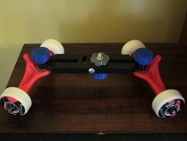 DSLR单反相机小导轨车  3D打印模型渲染图