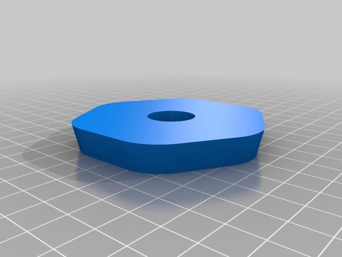 六边形弧状三脚架头装置板