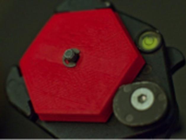 六边形弧状三脚架头装置板 3D打印模型渲染图