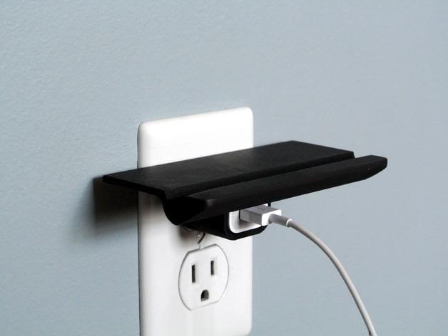 壁装电源插座支架