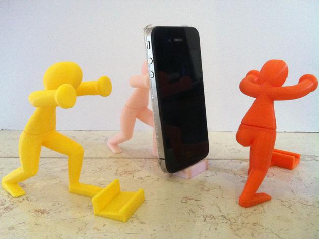 人力手机架 3D打印模型渲染图