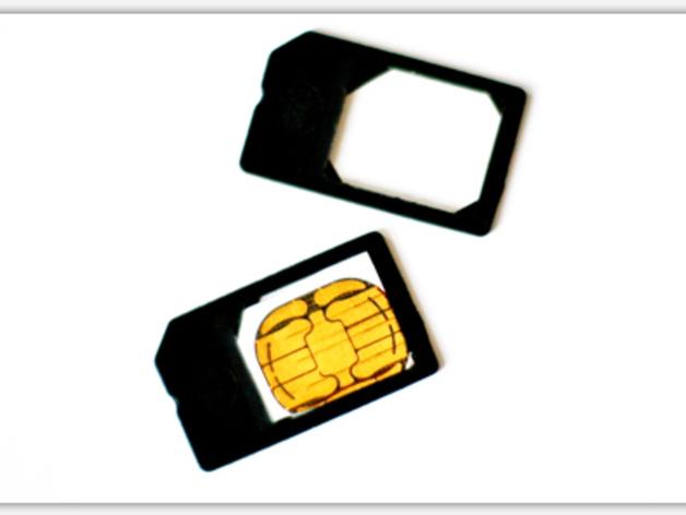 微型SIM卡 3D打印模型渲染图