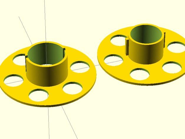 定制化线轴 3D打印模型渲染图