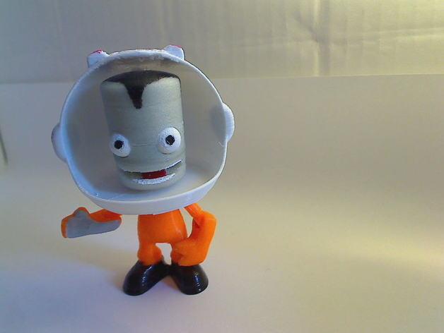 Kerbonaut太空人 3D打印模型渲染图