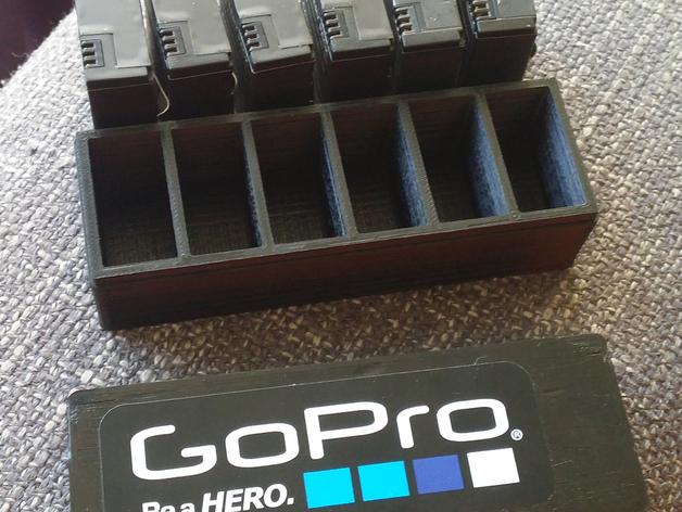 GoPro相机电池盒 3D打印模型渲染图