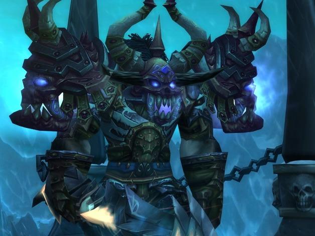 游戏《魔兽世界》牛头人死亡骑士 3D打印模型渲染图