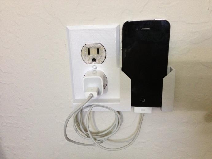 壁挂式手机座 开关盖