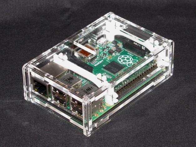 树莓派外壳 保护罩 3D打印模型渲染图