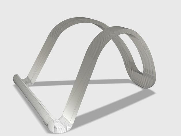 iPad平板电脑支撑座 3D打印模型渲染图