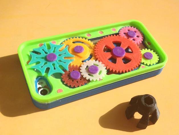 齿轮iPhone5手机外壳 3D打印模型渲染图