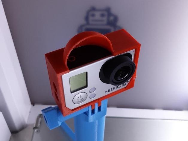 Gopro 3相机保护壳 3D打印模型渲染图