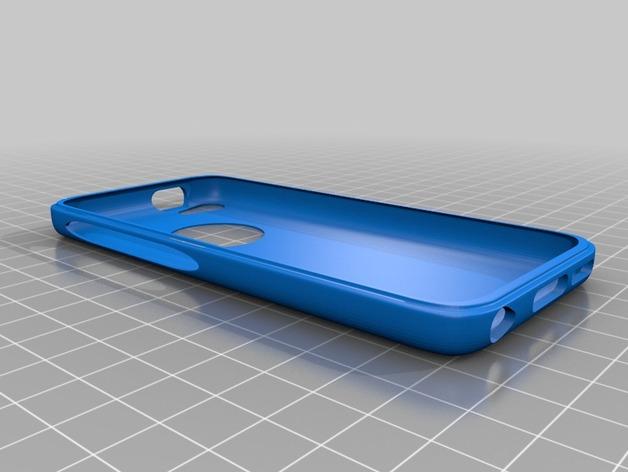 iPhone 5c手机外壳 3D打印模型渲染图