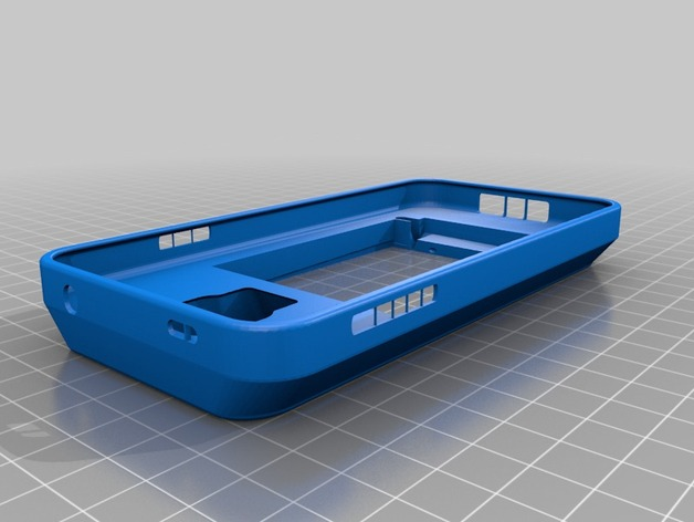 Galaxy S5 三星钱包手机外壳 3D打印模型渲染图