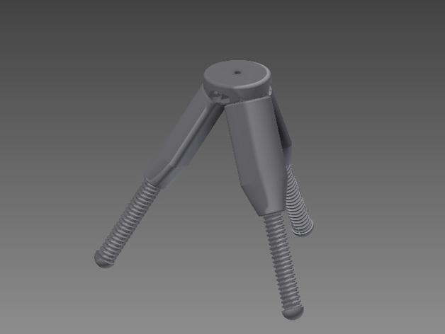 相机三脚架 3D打印模型渲染图