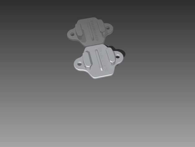 GoPro Hero相机支架安装部件 3D打印模型渲染图