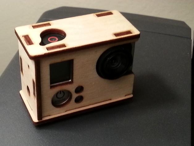 GoPro Hero 3相机外壳 3D打印模型渲染图