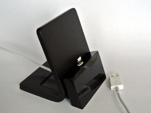 iPhone手机座 充电座 3D打印模型渲染图