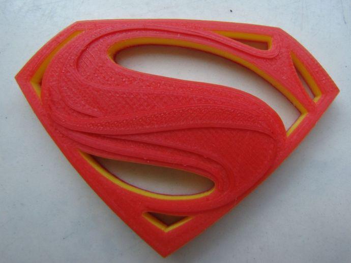 超人钢铁之躯 标志  3D打印模型渲染图