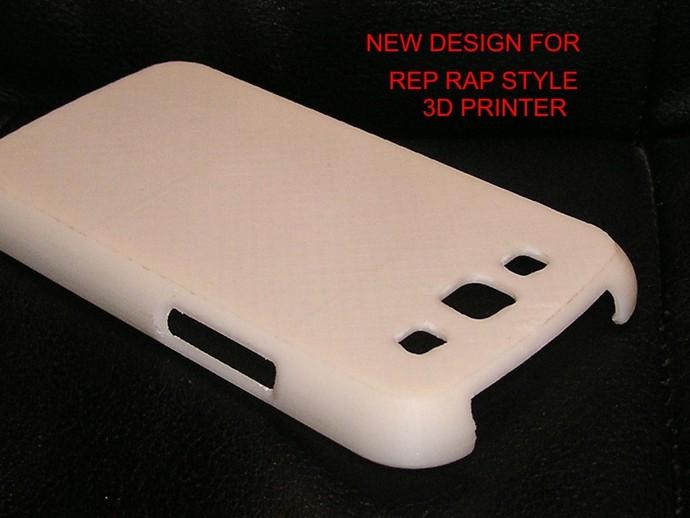 Galaxy S3 三星手机外壳 3D打印模型渲染图